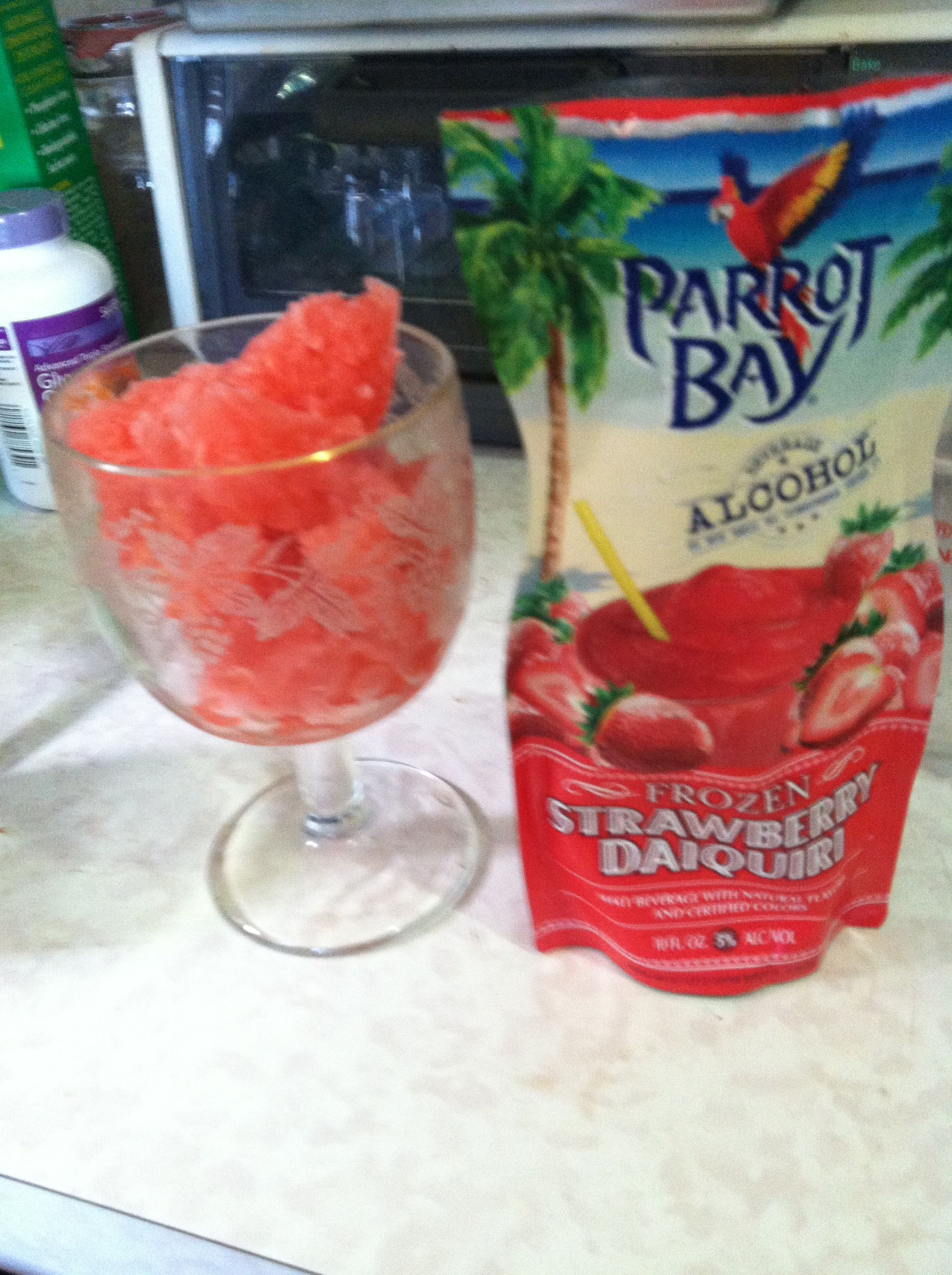 Picture of the Parrot Bay daquiri in a glass