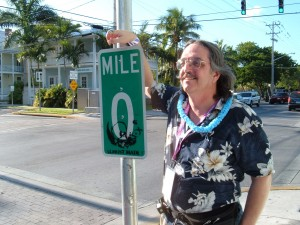 Picture of Loren at Mile Marker Zero