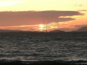 Sunset through the Golden Gate