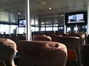 Picture of the inside main cabin on the Key West Express