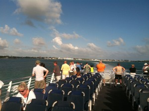 Picture of the top deck on the Key West Express
