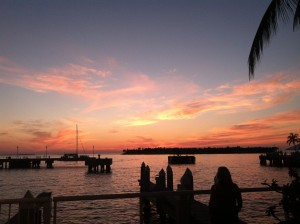 Picture of sunset at Mallory Square